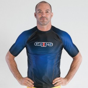 Rashguard Grips Athletics MMA Wasp Honeycomb Blu