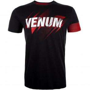 T-shirt Venum Rapid manica corta nero-rosso