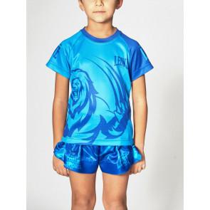 T-shirt bambino Leone Mascot ABJ12 azzurra