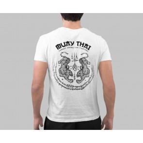 T-shirt Combat Arena Muay Thai-gers Bianco - dietro