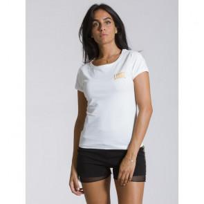 T-shirt donna Leone 1947 Logo Gold - Bianco