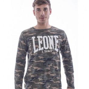T-shirt Leone 1947 Camo Logo maniche lunghe - visione frontale