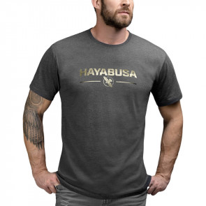 T-shirt Hayabusa Metallic Logo Nero - Visione anteriore