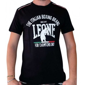 T-Shirt Leone Black LSM747 Dettaglio