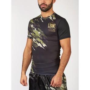 T-shirt Leone Neo Camo a compressione ABX15