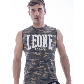 T-shirt smanicata Leone 1947 Camo Logo - davanti