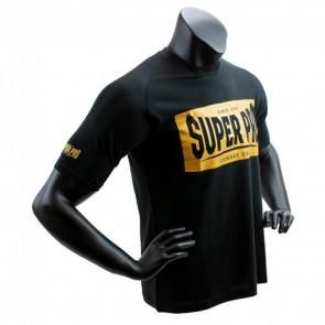 T-shirt Super Pro S.P. Block-Logo Nero-oro