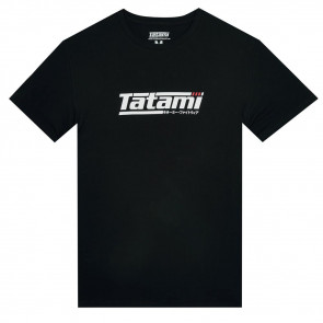 T-shirt Tatami Fightwear Logo Black & White - Nero