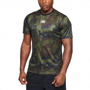 T-shirt Leone Camo ABX306 Verde mimetico - davanti