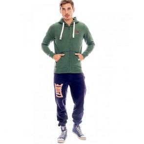 Tuta Leone felpa e pantalone verde-blu davanti