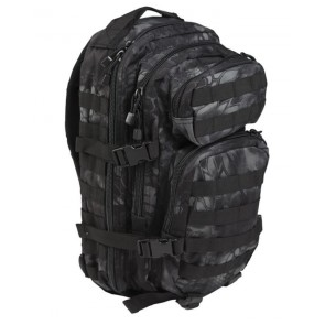 Zaino Nero Mandra Night US Assault Large Mil-Tec