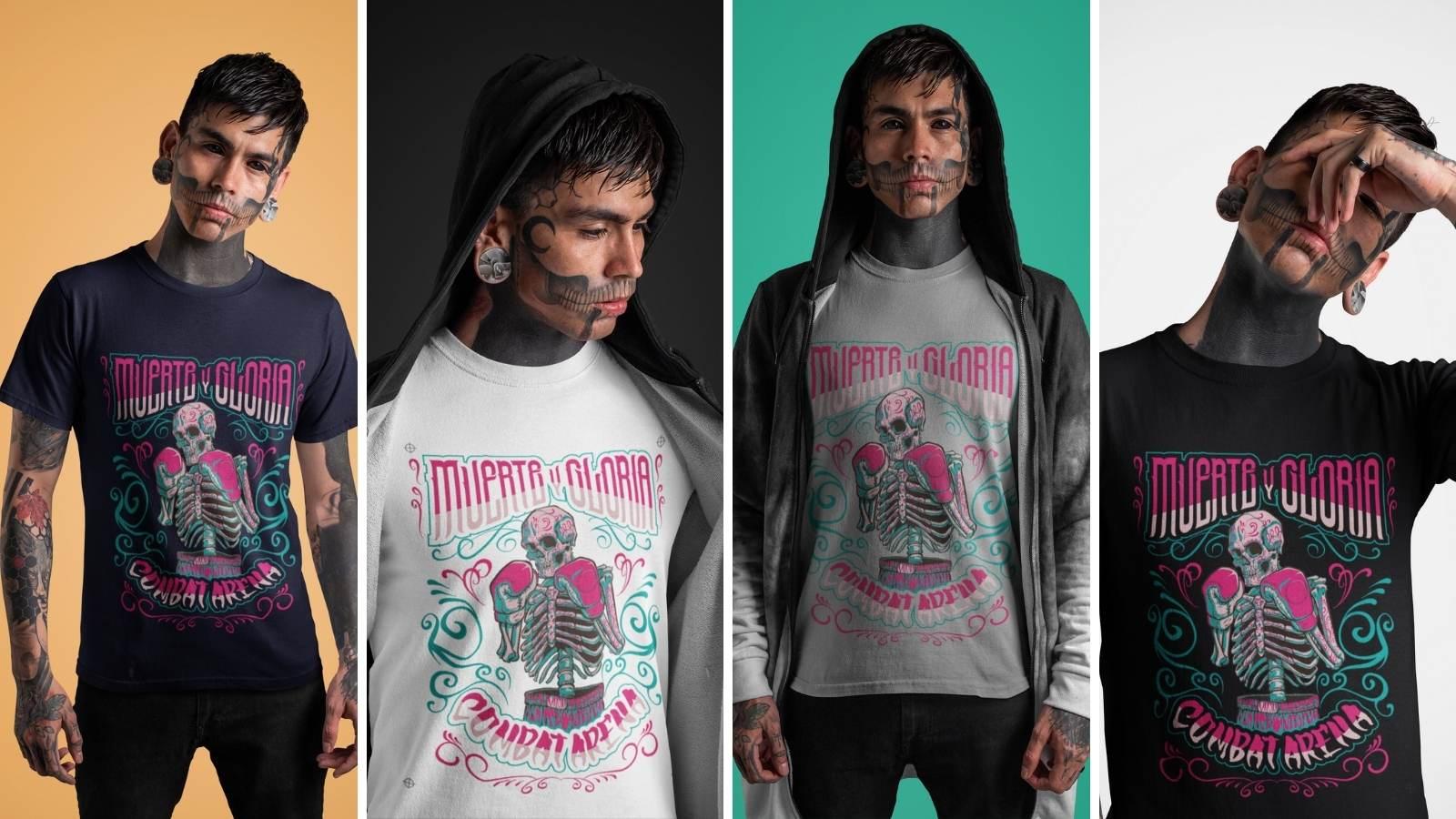 t-shirt muerte y gloria
